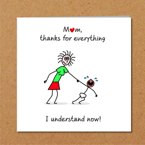 amazing mum mothers day card