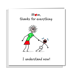 thank you mum mothers day card