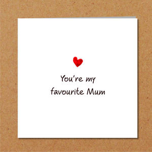 humorous best mothers day card son daughter