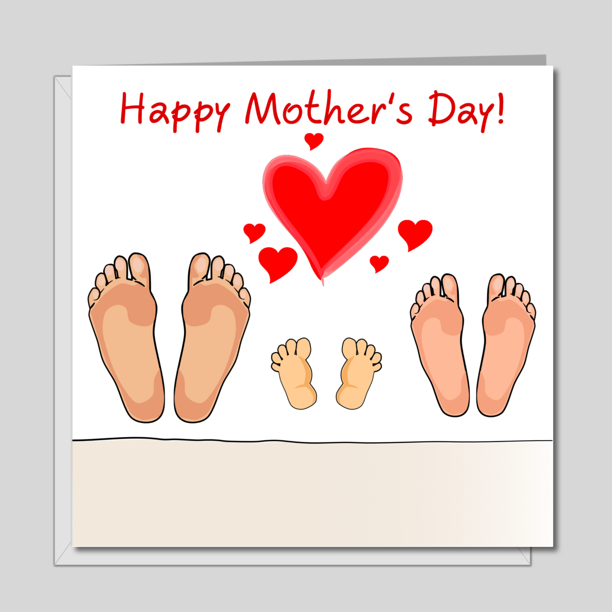 New Baby Mother's Day Card for new Mum from baby or husband - happiness love