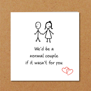 funny card for weird odd couple