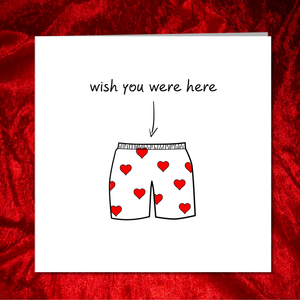 funny wish you were here card