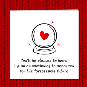 annoy you valentines card
