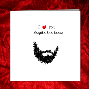 BEARD CARD for boyfriend, husband, male friend, man. Funny, humorous, fun. Birthday Valentines Anniversary Lockdown Quarantine