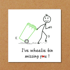 humorous missing you card