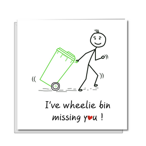 funny missing you card