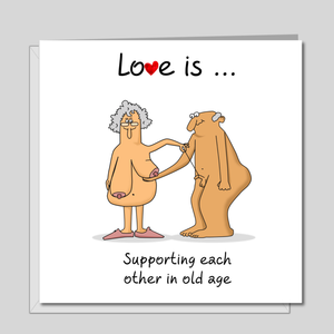 Funny Birthday Card 40th 50th 60th Valentines for Wife, Husband, Mum, Dad or friend. Love and support