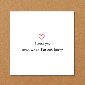 naughty miss you card