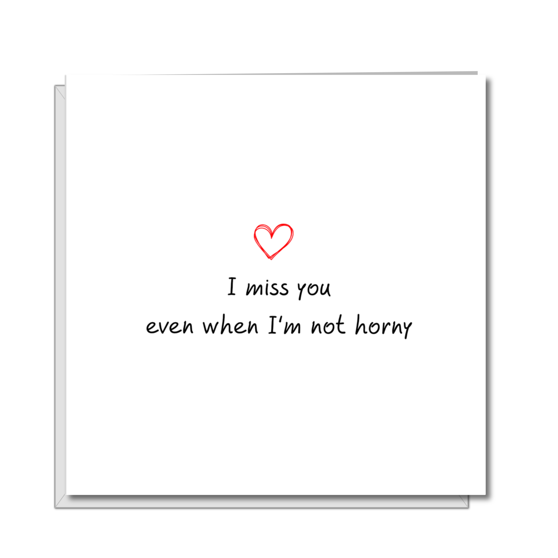 sexy missing you card