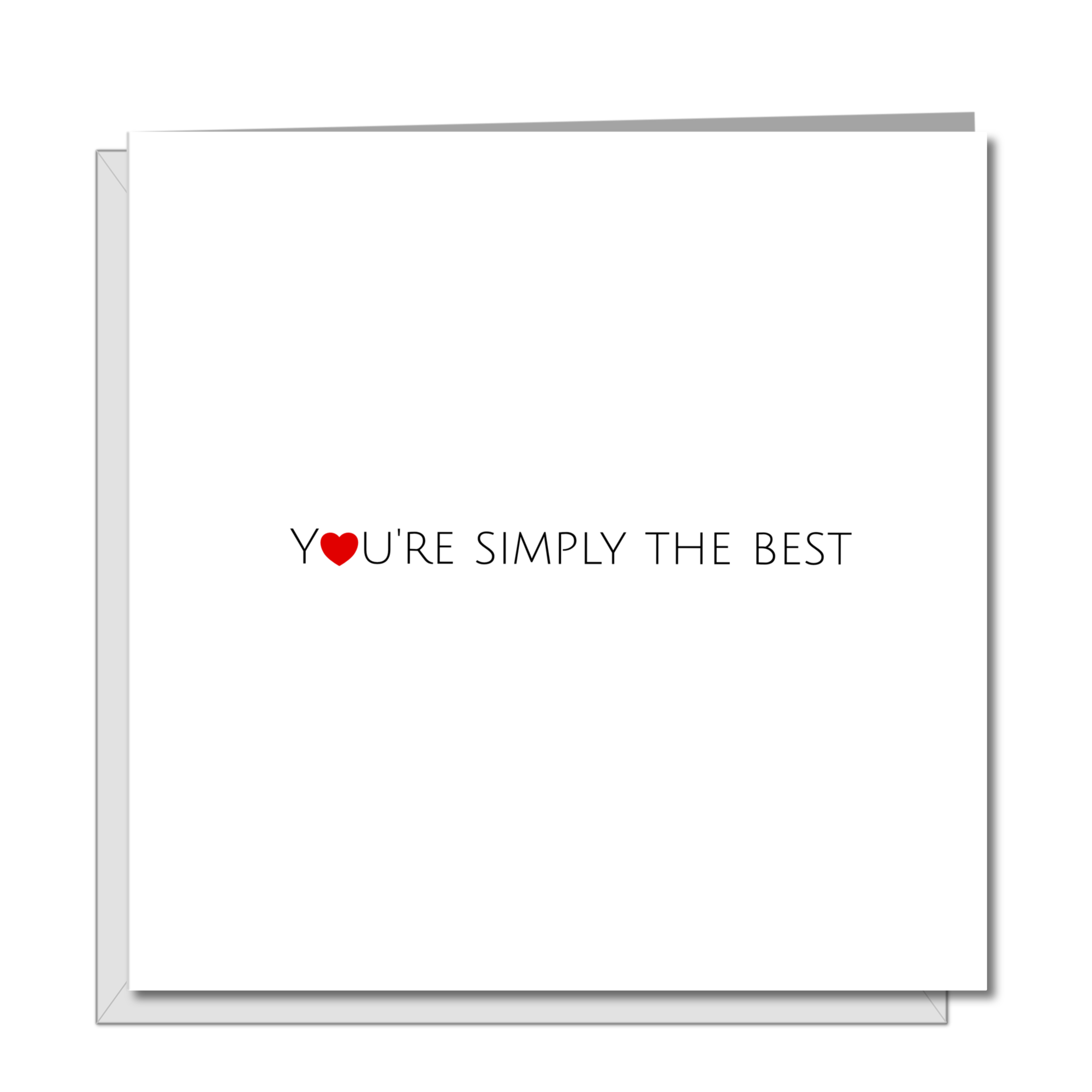 Good Luck / Congratulations / Birthday / Anniversary Card / Valentines Day Card - Simply the Best -  wife husband son daughter girlfriend boyfriend