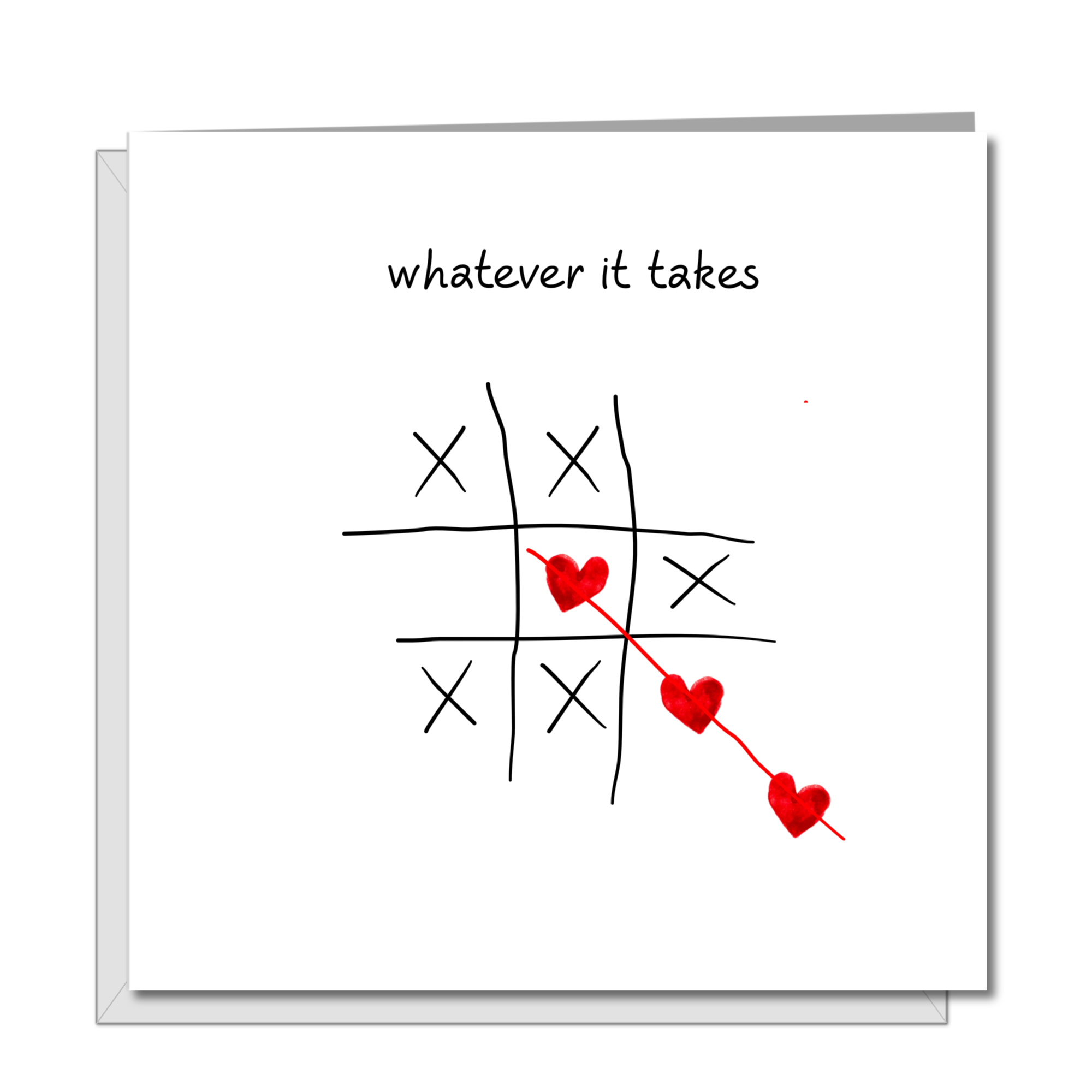 Romantic Card for Girlfriend, Boyfriend, Wife or Husband - Valentine Card, Birthday Card, Anniversary Card - I Love you unrequited love