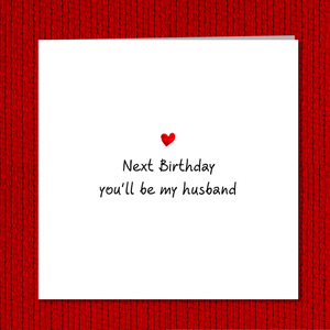 Romantic Fiance Birthday card - Future Husband or boyfriend card - Lover love cute engagement