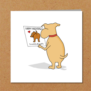 Funny Valentines Day Card for boyfriend girlfriend husband wife - dog Labrador retriever - amusing Humorous Heart Lover