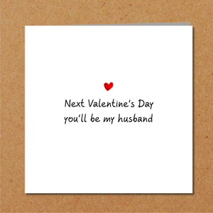 Romantic Fiance Valentines Day card - Future Husband or boyfriend card - Lover love cute