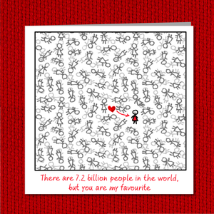 Valentines Day Card / Birthday Card for girlfriend or best friend / bff.  Romantic love special person best