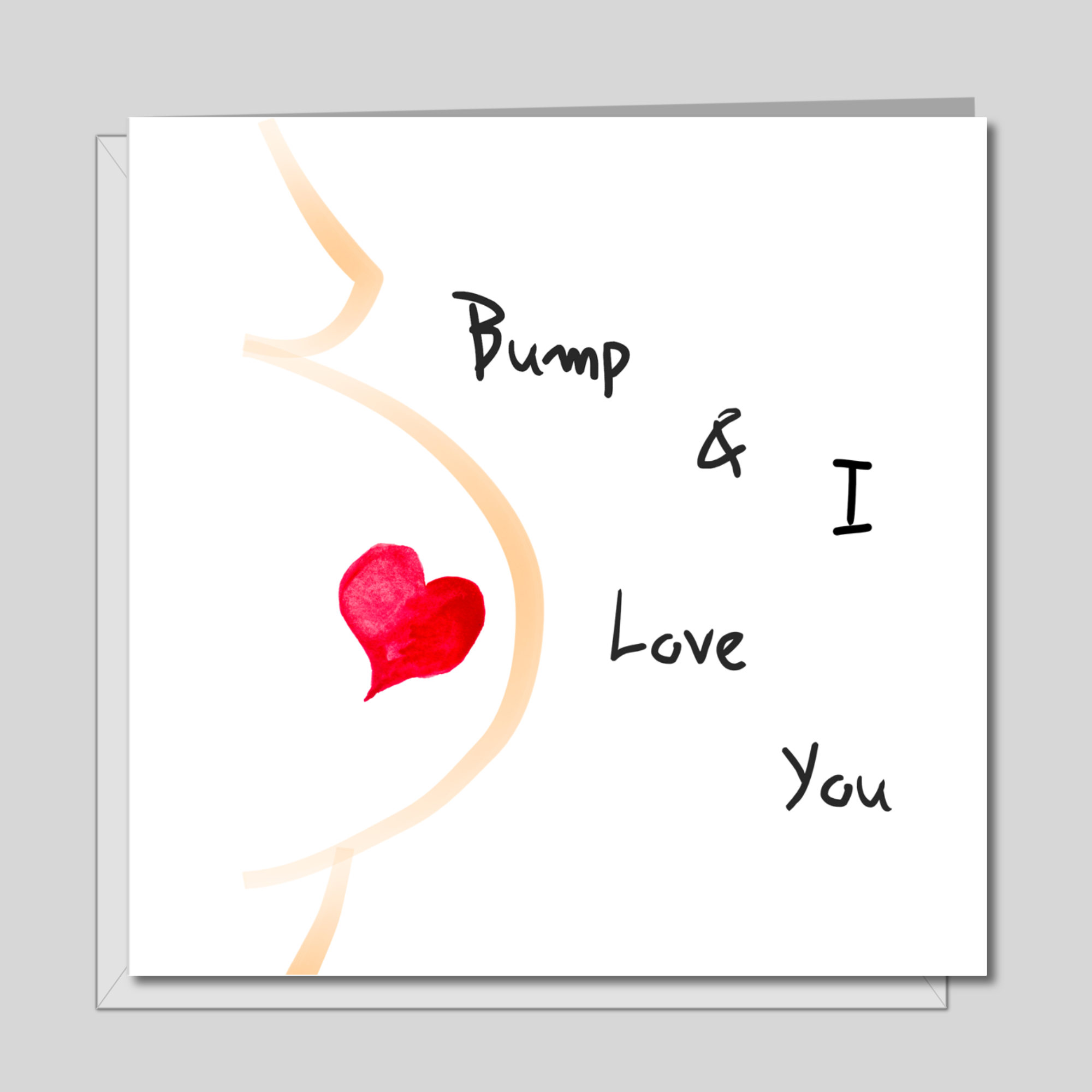 New Baby / Pregnant Valentines Day Card for father-to-be love, romantic, family, expectant