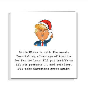 Donald Trump Christmas Card - Funny Trump Card - humorous amusing fun xmas card - anti fail