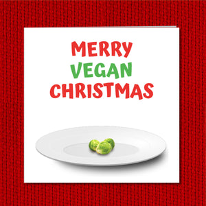 Funny Vegan Christmas Card for your Vegetarian Friend and Family - Cheeky, humorous and fun - Christmas Dinner