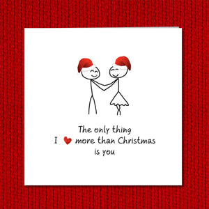 Romantic Christmas Card - Love Christmas - Girlfriend boyfriend wife husband lover- Married Love You Special