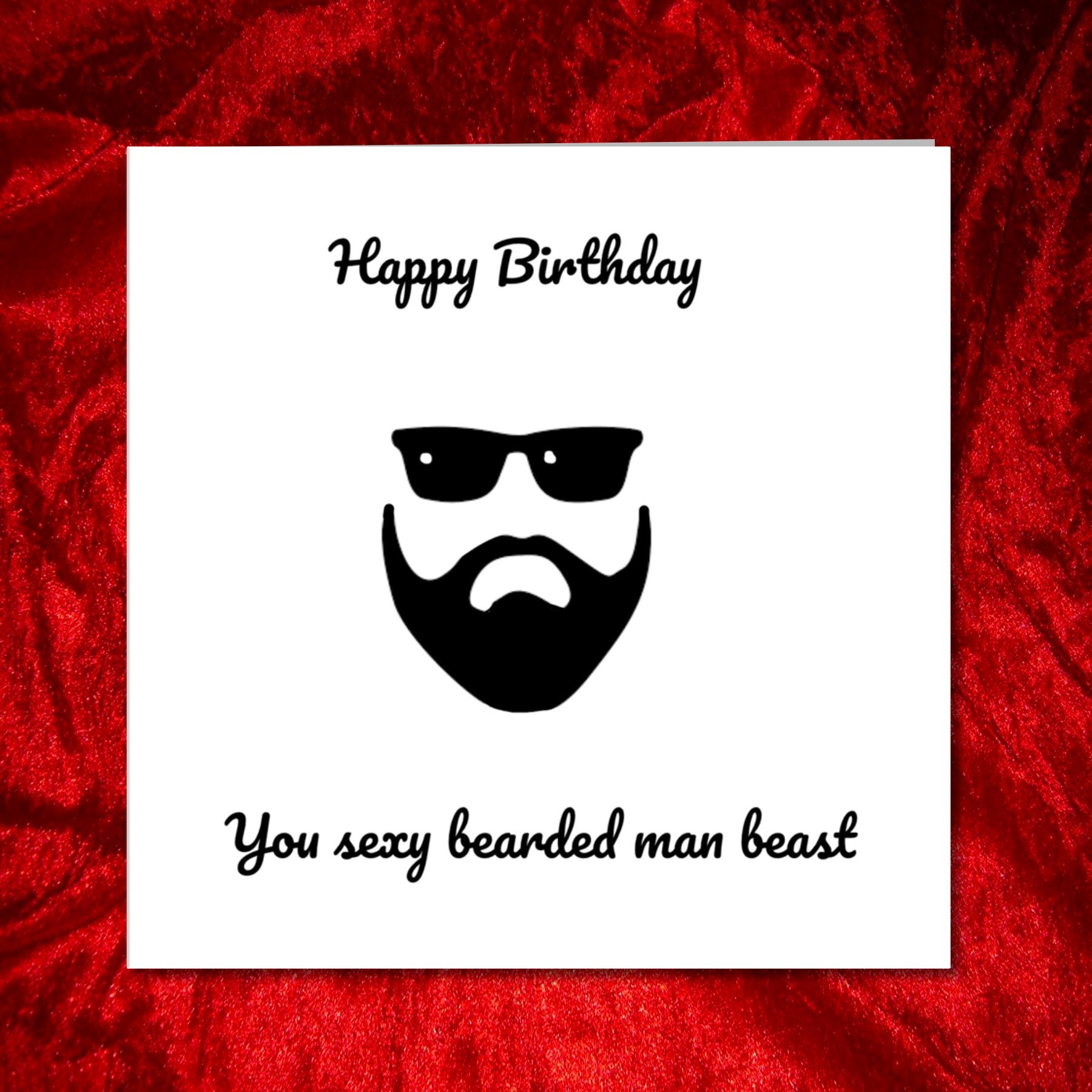 beard birthday card boyfriend