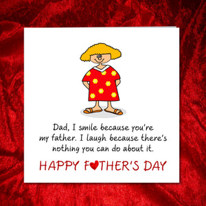 happy fathers day card daughter