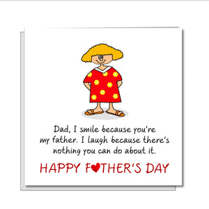 funny fathers day card from daughter