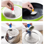 2PCS Happy Sale Stainless Steel Rod Magic Stick Rust Remover Cleaning Wash Brush Wipe Pot
