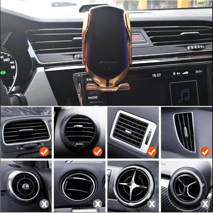 Wireless Automatic Sensor Car Phone Holder And Charger  (New 2019)