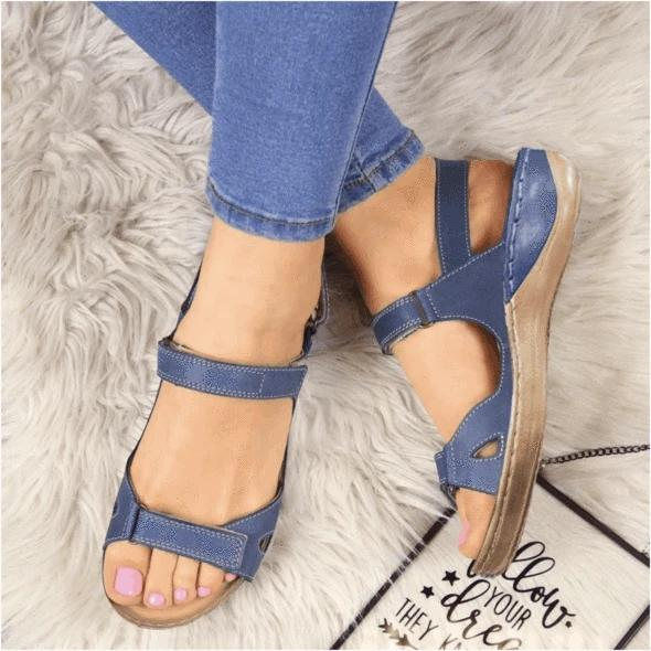 Dr. Care  - Premium Faux Leather Orthopedic Women Sandals
