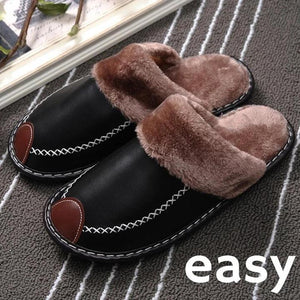 EASY - Warm Home Lovers Leather Slippers