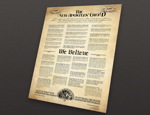 "The New Apostles' Creed ""We Believe"" Poster (24""x36"")"