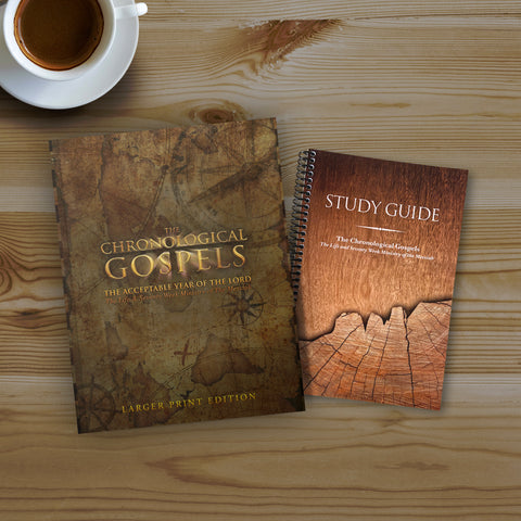 Picture of LARGER PRINT EDITION - The Chronological Gospels Study Bundle
