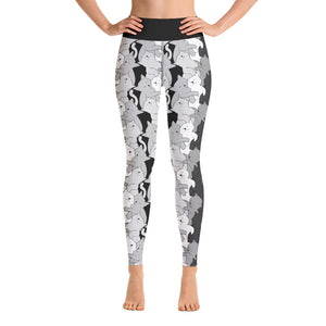 Cat Textile Yoga Pants