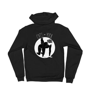 Cats and Yoga Zip-Up Hoodie