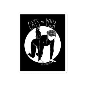 Cats and Yoga Vinyl Sticker