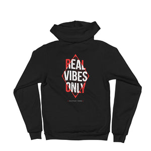 Real Vibes Only Zip-Up Hoodie