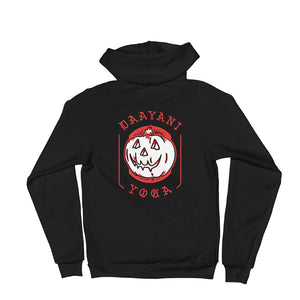 Jack-o-Lantern Flash Zip-Up Hoodie