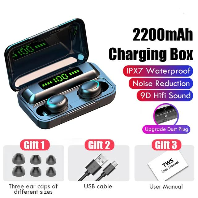Active Fix Bluetooth V5.0 Wireless Ear Buds With Charging Box For iOS Android