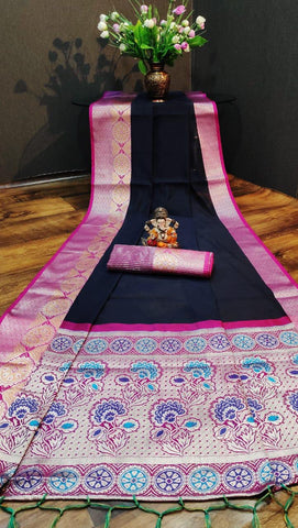 Pure Cotton with jalar saree