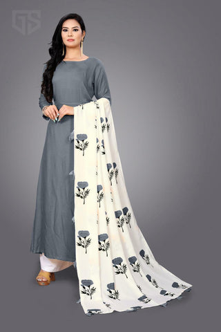 Hevy American crap with digital print Duptta salwar-suits