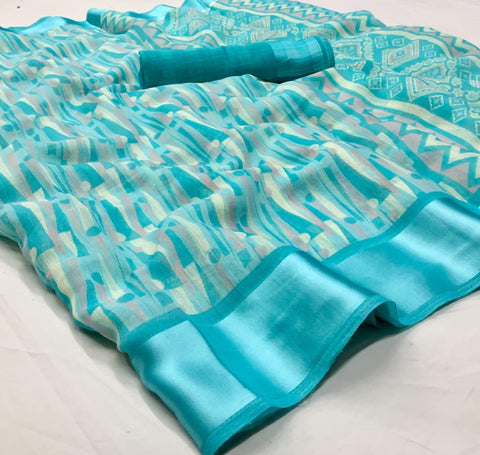 Belizza-02 Soft Linen Silk saree And Running Blouse