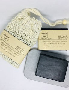 Activated Charcoal + Aloe Vera Detox Soap - naidié nezų
