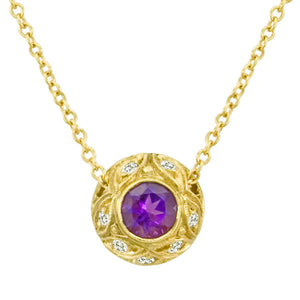 Gemstone Pendant 3009 Pend AM 18K