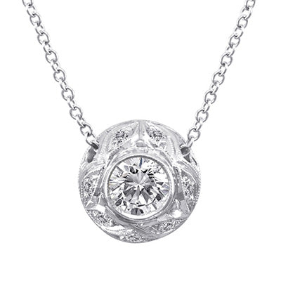 Diamond Pendant 3009 Pend 14K White