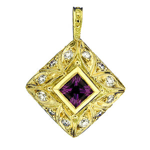 Gemstone Pendant 3018 Pend AM 18KY