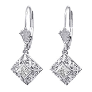 Diamond Earrings 3024 Ear D 14KW