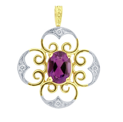 Gemstone Pendant 5098 Pend OV AM
