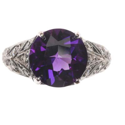 Gemstone Ring 8036 RD AM 18KW