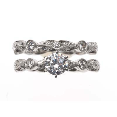 Bridal Ring 8042 Set PLT