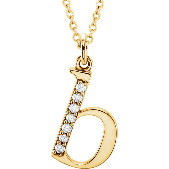 Diamond Pendant Lower Case Initial